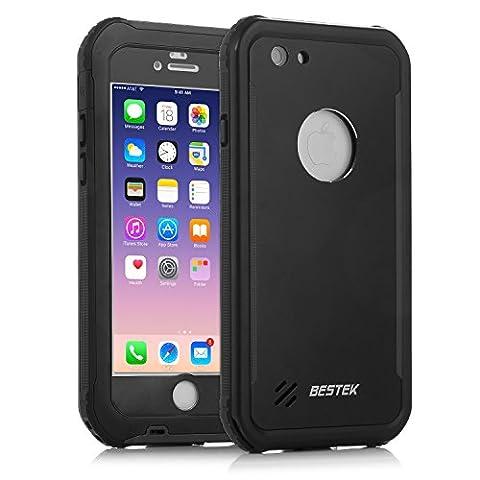 BESTEK IP68 Coque iPhone 7 Etanche Subaquatique Utilisation Complète, Etui de Protection Antichoc, Case Housse de Plein Air Waterproof Imperméable Antipoussière Neige Protecteur Sport (4.7, i7)