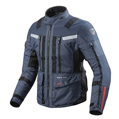 REV'IT! Motorradjacke, Motorrad Jacke Sand 3 Textiljacke dunkelblau L, Herren, Enduro/Reiseenduro, Ganzjährig