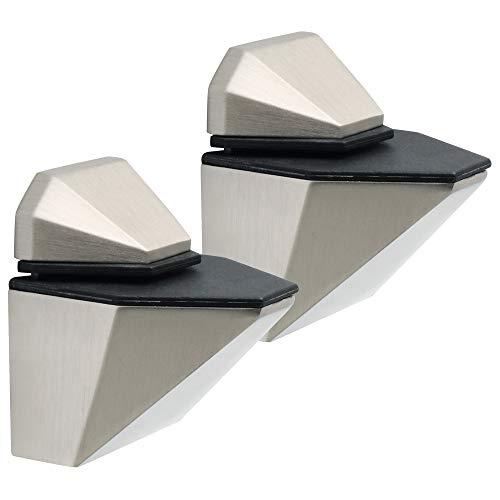 Sayayo EBLK166LS-2P - Soporte ajustable para estante de madera y cristal, soporte...