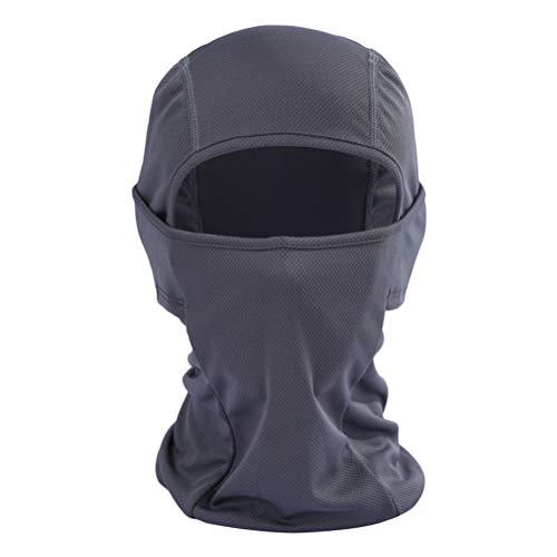 LIOOBO Reitmaske Haube Outdoor Sports Winddicht Sonnenschutz Mund Maske Sommer Atmungsaktiv Gesichtsschleier Gesichtsmaske für Outdoor Reiten Klettern (Grau)
