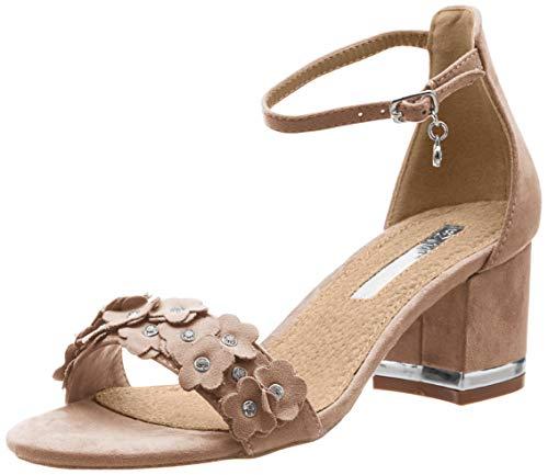 XTI 32032, Scarpe col Tacco con Cinturino Dietro la Caviglia Donna, Marrone Taupe, 38 EU