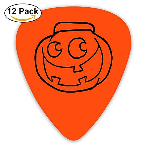 ks Mandolin Guitar Plectrums,Print Halloween Pumpkin,12 Pack ()