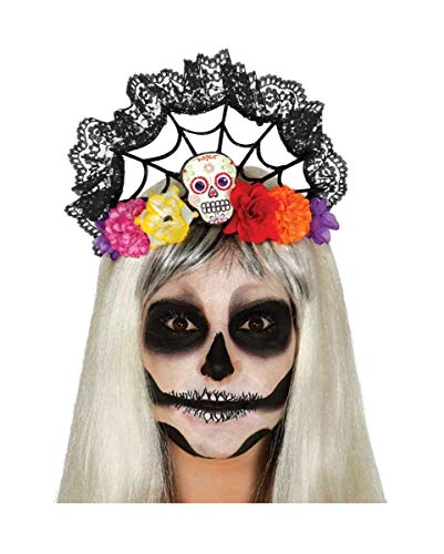 Horror-Shop Eleganter Bella Muerte Halloween Haarschmuck Day of The - Bella Muerte Kostüm