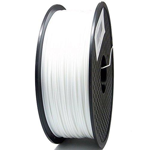 SIENOC 1 Packung 3D Drucker PLA 1.75mm Printer Filament - Mit Spule 1kg (Weiß)