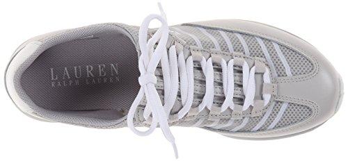 Lauren Ralph Lauren Falon Fashion Sneaker Feather Grey/White Pearl Net/Cotton Mesh