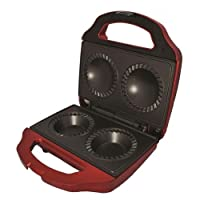 Gourmet Gadgetry Compact Easy Clean Retro Diner Double Pie Maker - Red