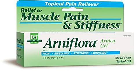 Boericke & Tafel Gel analgésique topique Arniflora Arnica Topical Pain Relief - Pour soulager les douleurs musculaires et les courbatures - A base de teinture d'arnica des montagnes - 80 ml
