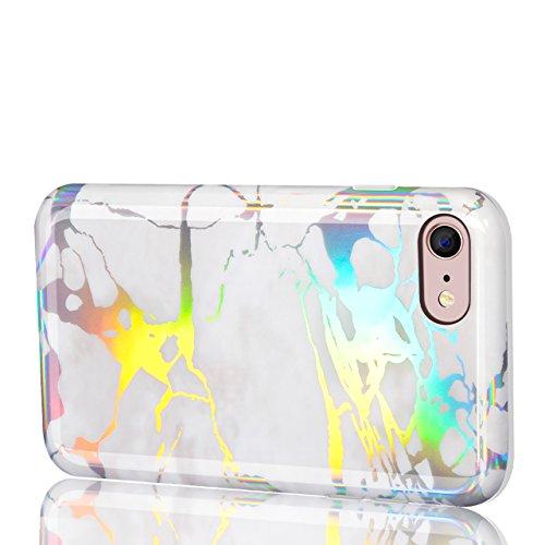 Vandot Cover per iPhone 6 Plus / 6s Plus 5.5 Pollice - Custodia rigida in plastica per cellulare - Marble case back cover Design marmo ,in TPU [Anti Graffi][Ultra Slim] Marble,Modello Marmo Candy Sili model 13