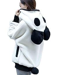 Abrigos De Mujer Invierno K-youth® Otoño Mujer Panda Abrigo de Suéter Esponjoso Con Capucha