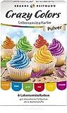 Crazy Colors Lebensmittelfarbe 6 x 4 g orange blau grün rot gelb violett
