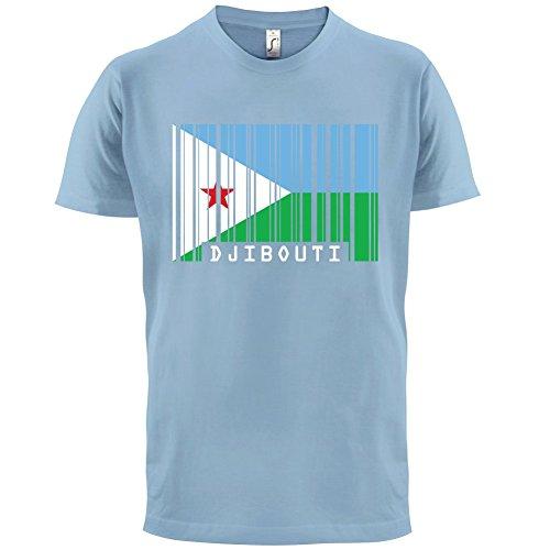 Djibouti / Dschibuti Barcode Flagge - Herren T-Shirt - 13 Farben Himmelblau