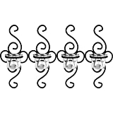 Dekoratives 4'er Set Wandkerzenhalter für Teelichter aus Metall für Teelichter Stillvolles Design aus Metall