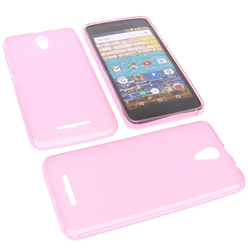 foto-kontor Tasche für Archos 50f Neon Gummi TPU Schutz Handytasche pink