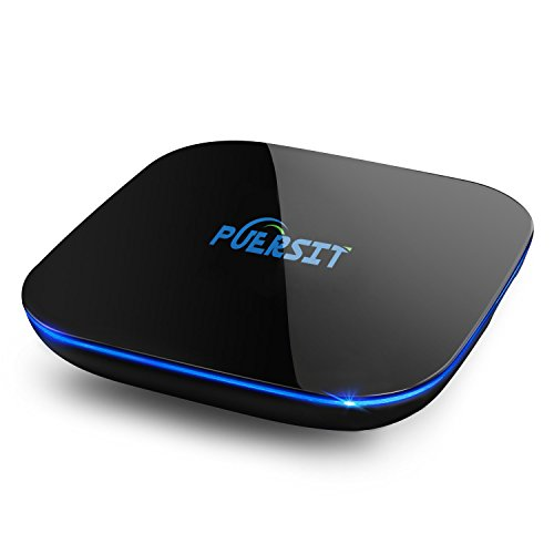 2016 NEW Puersit [2GB/16GB/4K] Quad-Core A53 Android 6.0 Smart TV BOX Amlogic S905 Streaming Media Player Bluetooth XBMC ,2.4G/5.0G double wifi+ I8 Wireless Keyboard
