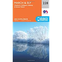 OS Explorer Map (228) March and Ely