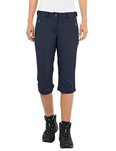 Vaude Damen Farley Stretch Capri II Hose, Eclipse, 40