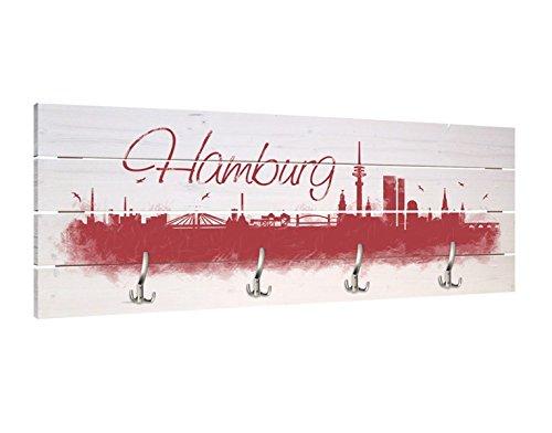 garderobe hamburg Klebefieber Garderobe Hamburg Skyline B x H: 120cm x 48cm
