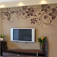 Vinilo decorativo pegatina pared, cristal, puerta (Varios colores a elegir)- flores