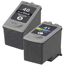 1 x Set ( 1 x Black 1 x Colour ) Professionally Maximum rellenared tinta reemplazo For CANON Pixma mp190 impresora, PG 40 CL 41 tinta CANON MultiPass 450, MP150, MP160, MP170, CANON Pixma iP1200, iP1300, iP1600, iP1700, iP1800, iP1900, iP2200, iP2400, iP2500, iP2600, ip6210d, ip6220d, MP140, MP150, MP160, MP170, MP180, MP190, MP210, MP220, MP450, MP450X, MP460, MP470, MX300, MX310, CANON Pixma Fax jx200, jx210p, jx500, jx510p impresora,