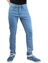 Denim Vistara Men's Slim Fit Sky Blue Colored Jeans