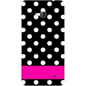 Casotec White Dots Pattern Design 3D Hard Back Case Cover for Microsoft Lumia 640