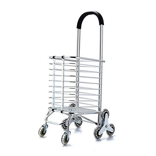 Carretillas De Mano Plegables De Equipaje Portátil Plegable De Aleación De Aluminio con Caja 8 Carrito De Compras Redondo Supermercado para Ancianos Supermercado