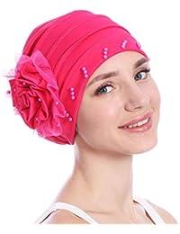 YueLian Puro Copricapo Musulmano Fiore di Pizzo Cappello per Chemioterapia  Donna 0d8607a4d079
