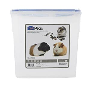 Lock & Lock Gerbil/Guinea Pig/Hamster Pet Food Storage Container, 3.4ltr
