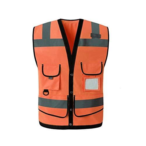 Reflektierende Weste, Sanitäre Grüne Verkehr Reflektierende Kleidung Website Sicherheit Schutzweste (Farbe : Fluorescent orange)