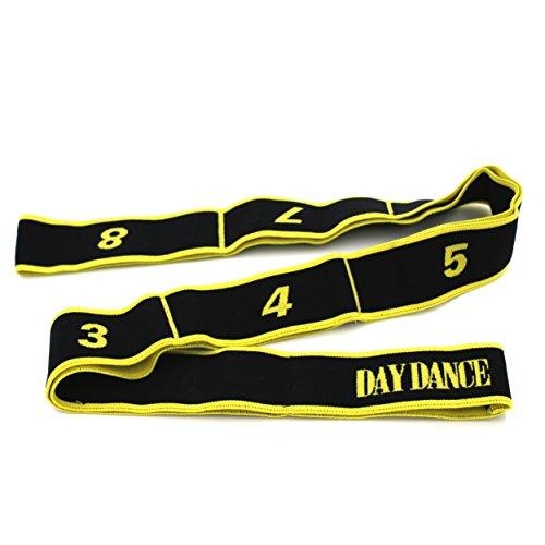 Gummi-band-tanz (Übungsbänder für Kinder und Erwachsene, für Pilates, Yoga, Fitness, Tanz, Gymnastik, Workout, 15kg, 90cm Yellow(Adult))