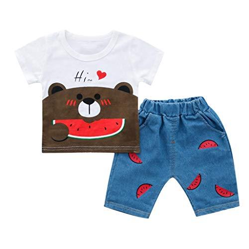 Lazzboy Kleinkind Kind Baby Jungen Mädchen Tragen T-Shirt Tops Shorts Hose Outfits Set Unisex Bekleidungsset Mit Aufdruck Shirt Latzhose Prinzessin Neugeborenen Kleidung(Höhe90) - Kleinkind-shirt Wikinger