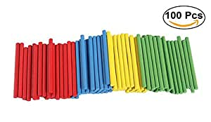 Ruikey 100 racines Jouet Éducatif Bébé Enfant Mathématique Intelligence Bâton Compter en Bois Compter les bâtons