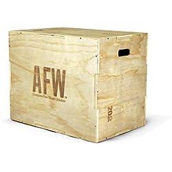 AFW 108030 Cajón de Salto Polimétrico, Adultos Unisex, Beige, Talla Única