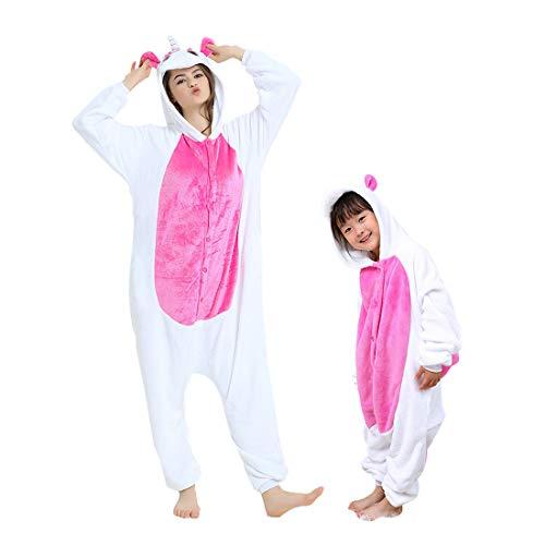 DEBAIJIA Pigiama Animali BambiniUnisex Party Halloween Cosplay Sleepwear per Ragazzo Ragazza Unicorn Rosa - 125