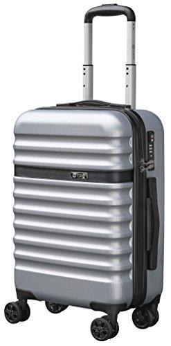 bugatti, Corium, 4 Doppel-Rollen Kabinen-Hartschalen Koffer, leichter Trolley, S - 55 cm, TSA Schloss, 34 l, 3.01 kg, silber