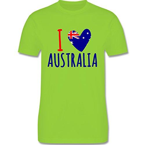 I love - I love Australia - Herren Premium T-Shirt Hellgrün