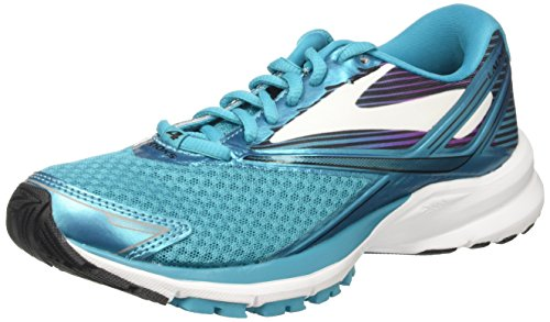 Brooks Launch 4, Scarpe da Corsa Donna, Multicolore (TealVictory/White/Black), 38.5 EU
