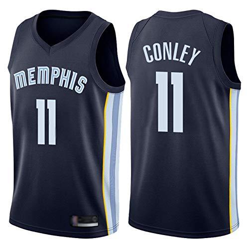 Z-ZFY Männer Und Frauen NBA Basketball Jersey - Memphis Grizzlies # 11 Mike Conley Fans Jersey Klassische Ärmel Top Swinger Gesticktes T-Shirt,A,XXL185~190cm/95~110kg