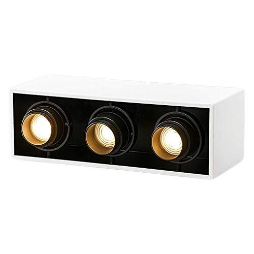 Foco empotrable Foco LED Foco de pared Foco empotrable rectangular Parrilla de...