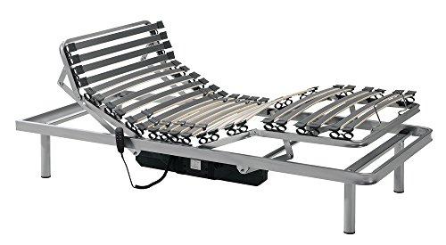 Gerialife® Cama Articulada Eléctrica Reforzada (90x190, Plateado)