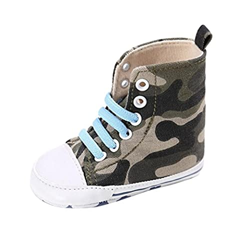 Tefamore Toddler Crib Chaussures Slip On Chaussures Confort Toile Chaussures (11/Age:0~6 Month, camouflage)