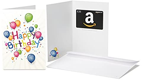Amazon.co.uk Gift Card - In a Greeting Card - £25 (Birthday Blast)