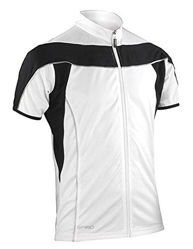 Spiro Herren Bikewear Full Zip Tops weiß / schwarz