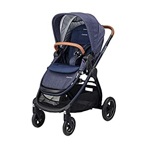 Maxi-Cosi Adorra Comfortable Urban Pushchair from Birth, Full Reclining Seat, 0 Months - 3.5 Years, 0 - 15 kg, Sparkling Blue   5