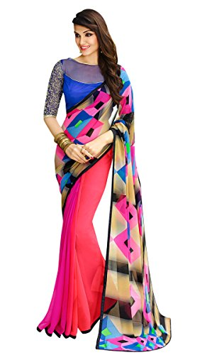 Shaily Retails Georgette Saree (Sby-6116_Multi Color)