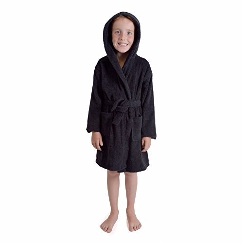 11-12 Years, Black - Boys Girls 100% Breathable Combed