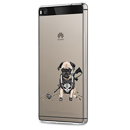 Vanki® Huawei P8 Funda, Protectiva Carcasa de Silicona de gel TPU Transparente,...