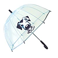 SMATI Parapluie Enfant Transparent Cloche - Bordure fluorescente
