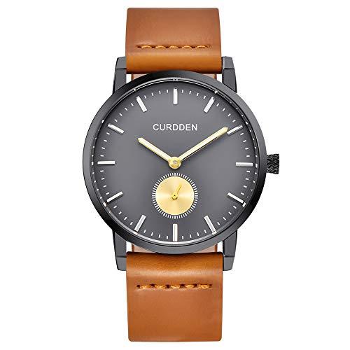 UINGKID Collection Unisex-Armbanduhr Herren Uhren Ultra Dünne Analoge Quarz-runde Armbanduhr der Art- und Weisemänner der Männer Geschäfts-Uhr