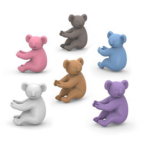 """Fred & Friends Party Ausstecher Drink Marker""""Social Climbers"""" Clipfigur, Koala 2.7 x 1.4 x 2.4 cm Mehrfarbig"""